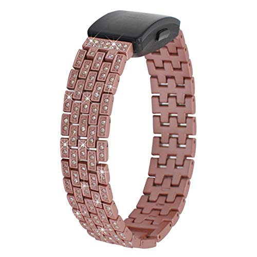 TechCode Bling Wrist Band for Fitbit Ace2, Bling Diamond Jewelry Metal Replacement Strap Dressy Crystal Bracelet Quick Release Wristband for Fitbit Inspire/inspire HR/Ace 2 Fitness Watch (R02)