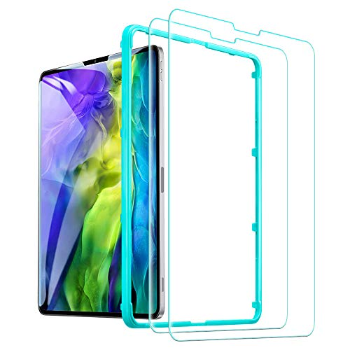 "ESR 2 Stück Panzerglas Schutzfolie kompatibel mit iPad Pro 11"" (2020/2018) [Face ID kompatibel] [gratis Montagerahmen] 9H-Harte HD Klare Panzerglas Schutzfolie für das iPad Pro 11 Zoll"