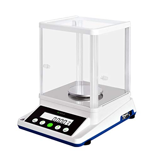 U.S. SOLID 0.001 g Precision Balance – Digital Analytical Lab Scale – Electronic High Precision 1 mg Accuracy Balance with 2 LCD Screens – 210 g / 0.001g Precision Scale