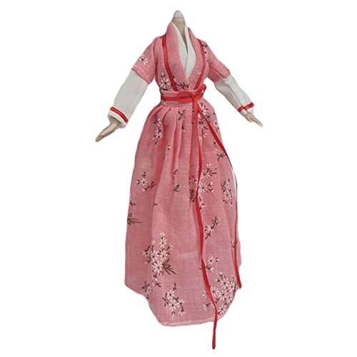 BLANCHO BEDDING Handgemachte chinesische Stil Alten Schönheit Kostüm Puppe Kleid rosa Pflaumenblüte Puppe Kleidung für 11,5-Zoll-Puppe