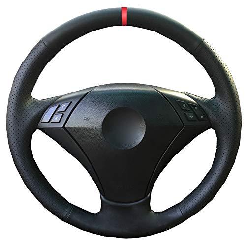 ZYFXT Para Coser a Mano Cubierta del Volante del Coche Marcador Rojo para BMW E60 E61 520I 520Li 523 523 523Li 525 525I 530 530I 535 545I