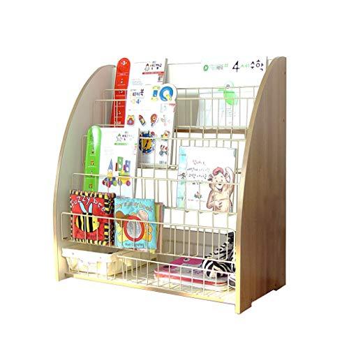 Bibliothèque Rangement de dossiers Porte-revues en Bois pour Enfants 5 Supports de Plancher Armoire de Rangement pour Jouets Présentoir de Meuble Portant 50 kg Cadeau