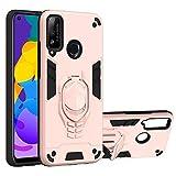vingarshern Funda para Huawei Honor Play 4T Carcasa Diseño 2 en 1,TPU Cover+Hard PC Caja,Anti-Choque Estuches Honor Play 4T Fund con Soporte Móvil(Oro Rosa)