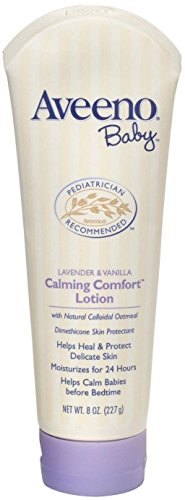 AVEENO Baby Lavender & Vanilla Calming Comfort Lotion 8 oz (Pack of 5)