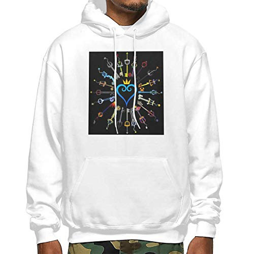 Jocper Kingdom Hearts Sweatshirt Quality Pullover Hoodie Apparel,for Men Women L White