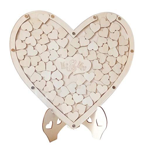 Matrimonio libro degli ospiti Tatuaggi cornice di legno Registrati per regalo di nozze Rustic Prenota