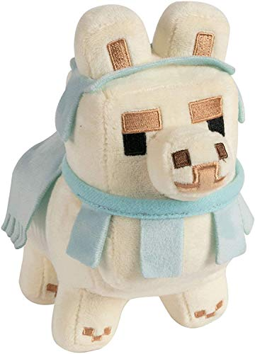 Minecraft Happy Explorer Llama Plush-White/Baby Blue Peluche, multicolor (8732) , color/modelo surtido