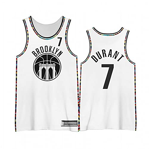 KHLKGMW Camiseta de baloncesto para hombre # 7 Kevin 2021 edición de la ciudad transpirable ropa de baloncesto, unisex ventilador de baloncesto sin mangas bordado chaleco deportivo Top M