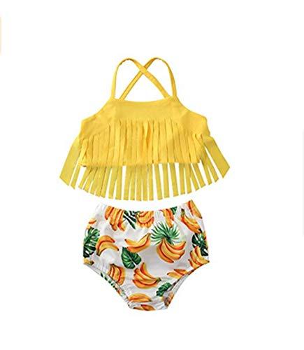 Peuter Baby Meisje Badpak, Leuke 2 Stks Streep Halter Sling Badmode Top Bow Bottom Badpak Strandkleding