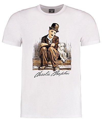 The One and Only Charlie Chaplin Herren Graphic T-Shirt Gr. XXL, weiß