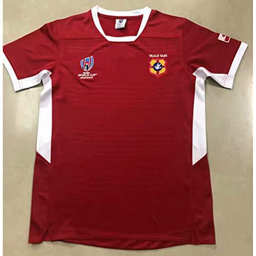 2019 Japan World Cup Rugby Trikot Tonga Training Trikot Fan Sweatshirt Sportswear T-Shirts für Männer, Stickerei Polyester Schnelltrocknende atmungsaktive komfortable XXXL
