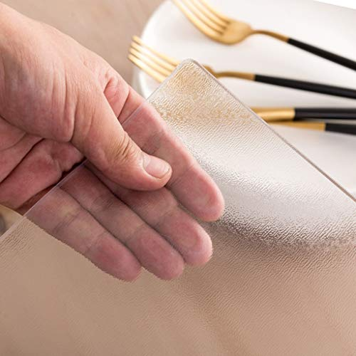Bureaustoel Passepartout for Hardhoutvloer Multi Maattabel Protector Pad - PVC Vinyl Top Protector for Rectangle Bureau, Houten Lijst dekking for de eettafel - Heavy Duty Tablecloth