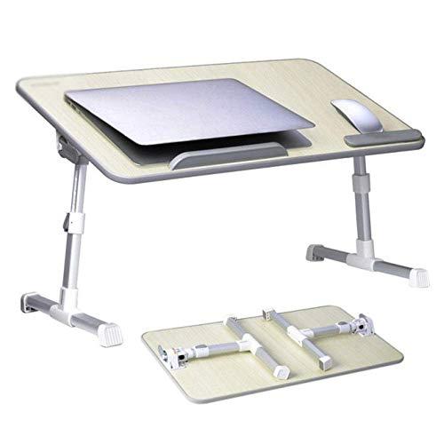 Mesa para computadora portátil Rotación automática Multifunción Cama para computadora portátil Ventilador de escritorio para computadora Soporte de mesa plegable portátil de aleación de aluminio, Sopo
