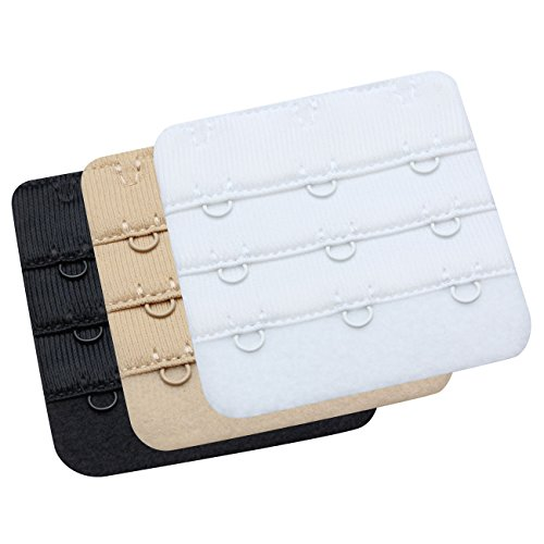 WingsLove -Extensores de Bra - para Mujer Multitamaño(3 Hook 3/4 Inch Spacing)