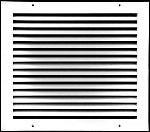 14' X14'Aluminum Return Grille - Easy Air Flow - Linear Bar Grilles [Outer Dimensions: 16.5'w X 16.5'h]