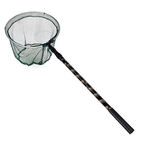 TOOGOO 180cm red de aterrizaje / filetes de pesca plegable retractil telescopica cana de pescar de Aleacion de aluminio