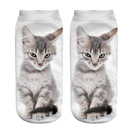 HNDDWZDB 3d Drucken Socken Knöchelsocken Unisex Lustige Socke 3D Mode Katze Gedruckt Casual Socken Nette Low Cut Ankle Socken Beliebte Socke Feuchtigkeits Socken Soxs