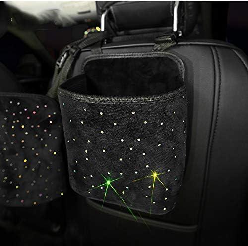 eing Car Seat Organizer - Premium Seat Back/Front Seat Travel Caddy,Car Front Seat Organizer with Crystal Little Star Diamonds,Black