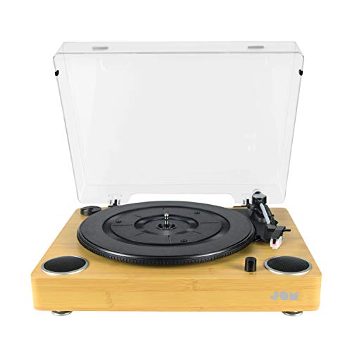 JAM Sound Turntable Player, Vinyl Record Player, Built-In Dual Stereo...
