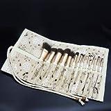 CGQPincel de maquillaje para principiantes, conjunto de 12 pinceles, cepillo para sombra de ojos, pincel de maquillaje, 12 sets + Brush Pack Sponge Eggs, Rayon