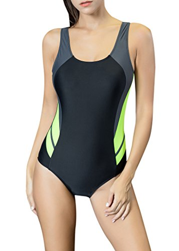 Dixperfect Baywatch-Inspired One Piece Swimsuit with High Cut and Low Back for Women (M, HOT Pink-Bride)