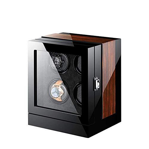 ZCYXQR Bobinadoras de Relojes, Caja de Almacenamiento de bobinadoras de Relojes Inteligentes de Madera automática Premium, Caja de visualización de Relojes con Pantalla táctil LCD