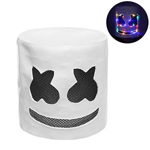 Yissma DJ masker, helm voor kinderen, volwassenen Cosplay kostuum DJ masker met kleurrijk LED-licht