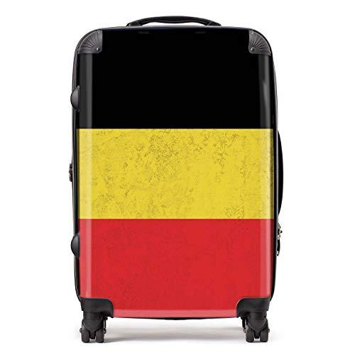 België vlag West-Europese vlaggen koffer met TSA-blokkering 4 spinner wielen bagage 68cm 80Ltr