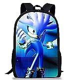 Sonic Mochila Game Sonic Cosplay Bolsa para niños Dibujos Animados Carnaval Performance Show Niños Regalo de Cumpleaños Disfraces de Halloween