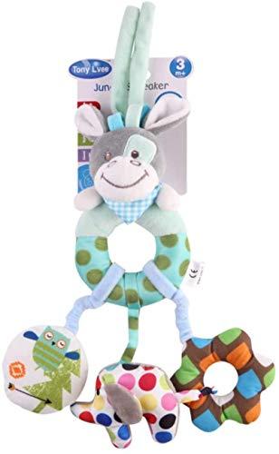 DINEGG Naisicore Baby Krippe Hängen Spielzeug Infant Kinderwagen Autositz Bett Spielzeug Plüschtiere 1 stück Blau DonkeyHanging Spielzeug YMMSTORY