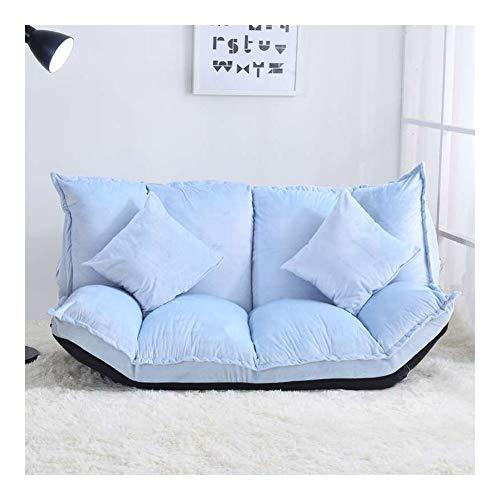 Lazy Couch / sofá, plegable doble Sofá cama Silla Suelo japonesa con el amortiguador for Ver la TV o juegos Sillas plegables de lectura del dormitorio Balcón Ocio Sofá cama plegable ( Color : C )