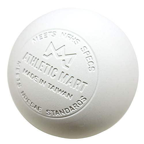 ATHLETIC MART 公式試合球 ラクロスボール NOCSAE公認刻印入 ホワイト[白色] 1ダース(12個入)