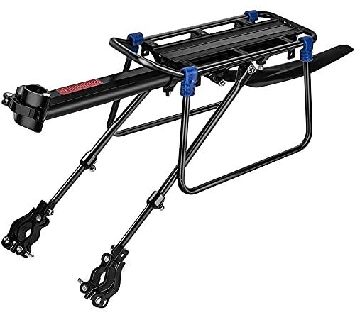 SPGOOD Set di portapacchi per mountain bike, universale, regolabile, in lega di alluminio, chiusura rapida e montaggio, carico massimo 100 kg, con riflettore
