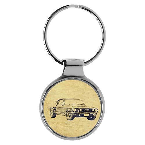 KIESENBERG Schlüsselanhänger Geschenke für Mustang 1967 Fan A-6445