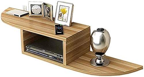 Set Top Box Regal Wandregal HinterGründ Wanddekoration Router Lagerregal Massivholz, 4 Farben (Farbe  Weißer Bogen) (Farbe   Arc Light Walnut, Größe   -)