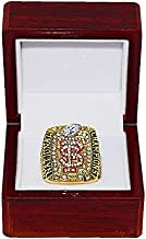 FLORIDA STATE UNIVERSITY SEMINOLES (Jameis Winston) 2013 BCS NATIONAL CHAMPIONS (Undefeated Season) Rare & Collectible Replica NCAA Football Gold Championship Ring with Cherrywood Display Box