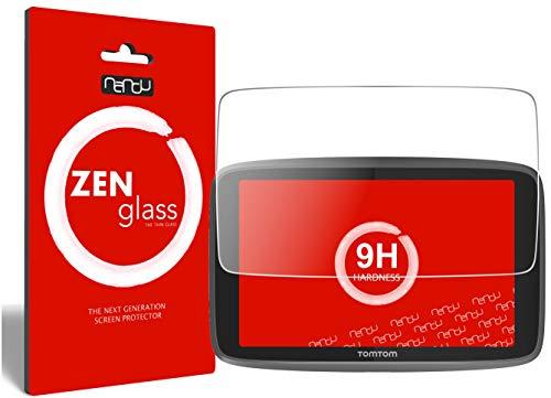 ZenGlass (2 Stück) Flexible Glas-Folie kompatibel mit Tomtom Go Professional 6250 Panzerfolie I Display-Schutzfolie 9H