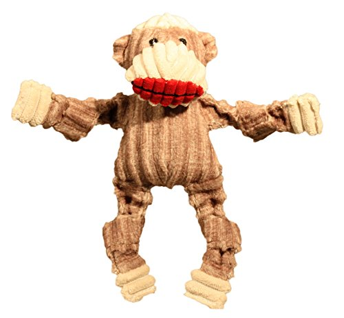 HuggleHounds Peluche Corduroy Durable calcetín Monkey