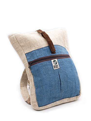 Kibo Hanf Rucksack Hemp Backpack KRS005, handgefertigt, groß, Boho/Hippie-Style