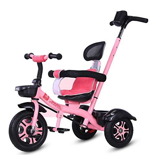 YGB New Triciclo Triciclo Triciclos - Cochecito de bebé con asa de Empuje, Bicicleta de 3 Ruedas 3 en 1 con asa de dirección para niños pequeños/niñas, de 1 a 6 años de Edad
