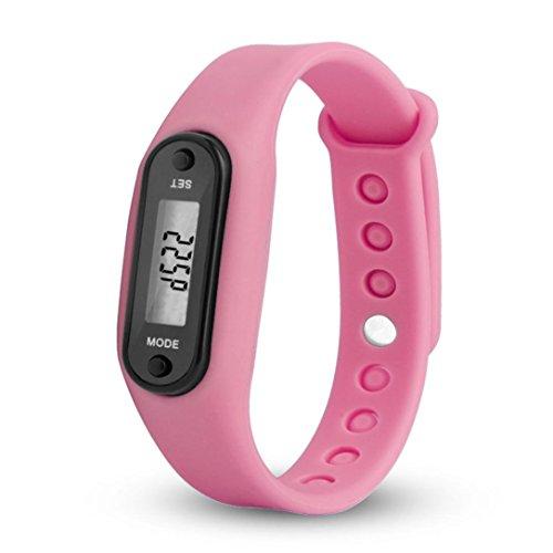 Toamen Ejecutar Step Watch Bracelet PodóMetro Contador De Calorias Relojes Digitales De La Distancia Que Recorre De LCD (G)
