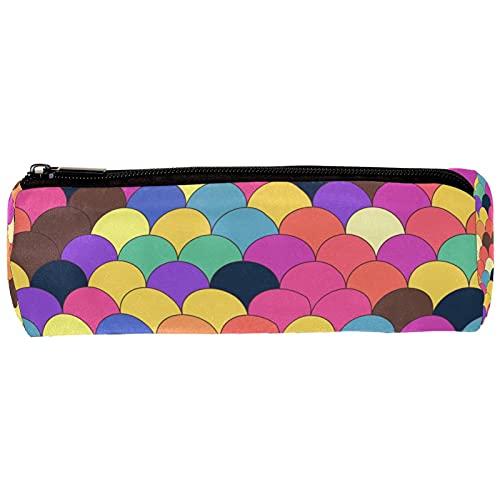 Stazionario Sirena colorata Fashion Pencil Pouch Bag Sacchetto di cancelleria Borsa per scuola media Studente universitario per ufficio Donna Uomo Impermeabile 20x6.3cm
