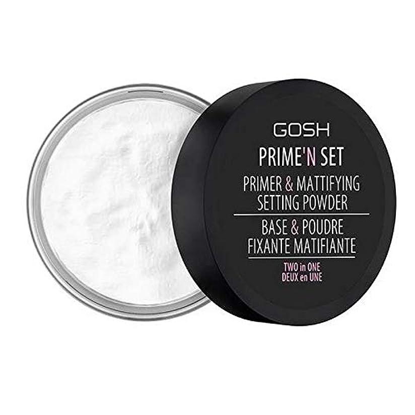 輝く黒針[GOSH ] おやっベルベットのタッチプライマー&設定パウダー - 透明 - GOSH Velvet Touch Primer & Setting Powder - Transparent [並行輸入品]