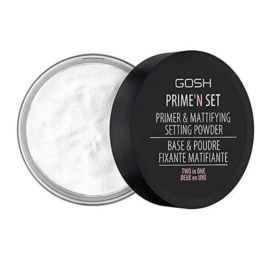 コミットメント寛容な絶滅させる[GOSH ] おやっベルベットのタッチプライマー&設定パウダー - 透明 - GOSH Velvet Touch Primer & Setting Powder - Transparent [並行輸入品]