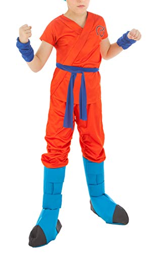 CoolChange Dragon Ball Son Goku Super Saiyajin Blue Kinder Kostüm, Größe: 152