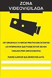 MovilCom - Adhesivo ZONA VIDEOVIGILADA | CAMARA VIGILANCIA 100x150mm homologado nueva legislación (ref.RD36642)