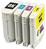 TONER EXPERTE® 4 XL Cartouches d'encre compatibles avec HP 940 940XL OfficeJet Pro 8000 8500 8500A A809a A809n A909a A909g A910a A910g C4906AE C4907AE C4908AE C4909AE | Grande Capacité