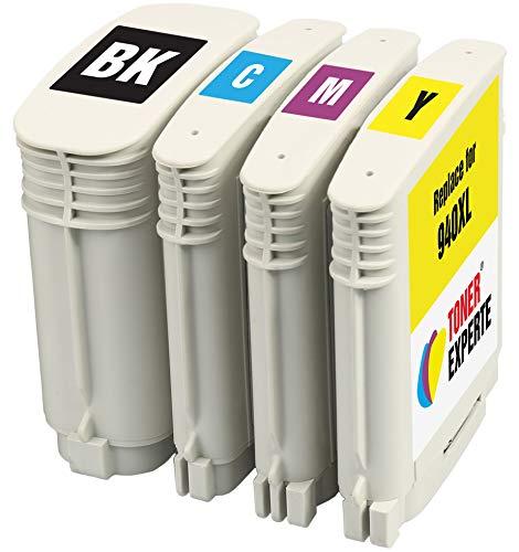 TONER EXPERTE® 4 XL Druckerpatronen Ersatz für HP 940 940XL kompatibel für HP Officejet Pro 8000 8500 8500A A809a A809n A909a A909g A910a A910g C4906AE C4907AE C4908AE C4909AE   hohe Kapazität
