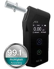 ACE X Alkotester - cyfrowy alkomat - policyjny test alkoholowy - zwycięzca testu TU Wien (99,1% dokładności)