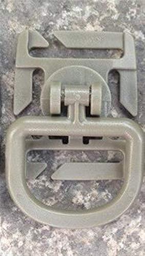 5 UNIDS Tactical Tactical Grimlock Rotación D-Ring Clips Hebilla Molle Molle Ajuste Mochilas Mochilas Bloqueo Mosquetón EDC Herramienta EDC Multitool (Color : Tan)